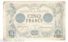 5 Francs Noir Type 1871 Mars 1873 TTB  ( 654 )