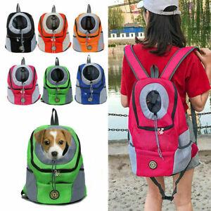 UK Portable Pet Dog Carrier Puppy Mesh Backpack Travel Carrying Bag Shoulder Bag