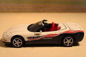 Franklin Mint 2004 Limited Edition Corvette Indy 500 Pace Car in White/Blue Flag
