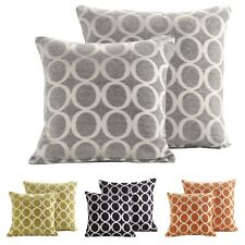 Modern Soft Rich Chenille Woven Circle Jacquard Design Large Scatter Cushion