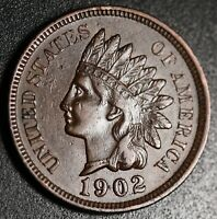 1902 INDIAN HEAD CENT -With LIBERTY & DIAMONDS - XF EF