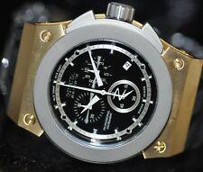 Invicta Mens Rare Akula Swiss Reserve Chrono Black Dial Black Poly Watch 4842