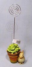 Hallmark Marjolein Bastin Rabbit w/ Flower Pot Memo Note Holder - New