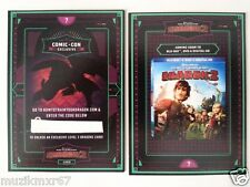 SDCC Comic Con 2014 EXCLUSIVE How to Train your Dragon 2 Level 3 Dragon card