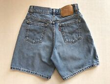 Vtg Levis Jean Shorts Womens Size 5 27 Waist High Rise Denim Light Wash Levi's