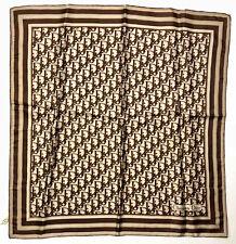 CHRISTIAN DIOR PARIS VINTAGE '70 Foulard Seta Signed Silk Scarf With Tag