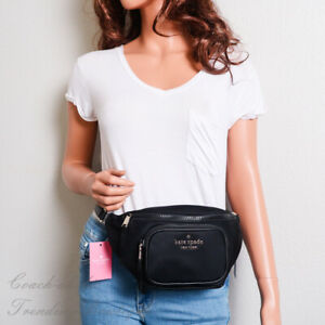 NWT Kate Spade New York Dorien Nylon Belt Bag Fanny Pack in Black