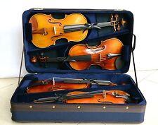Wooden Violin Case for 4 piece Violins VT-095