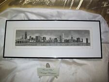 CHICAGO Skyline by Philip C Thompson Sign/#'d Intaglio Original Print Limited Ed