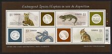 Canada — Souvenir sheet — 2006, Endangered Species: Land Animals #2173 — MNH