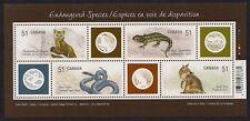 Canada Stamps -Souvenir sheet -2006, Endangered Species: Land Animals #2173 -MNH