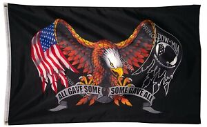 Veteran POW MIA All Gave Some Some Gave All Eagle Polyester 3x5FT Flag Military