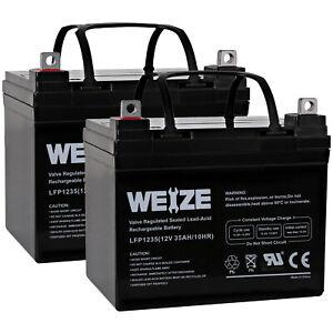 2 Pack - UB12350 12V 35Ah Wheelchair Medical Mobility Battery