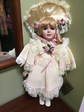 "Seymour Mann Porcelain connoisseur Doll Dorothy box COA 17"" porcelain Victorian"