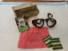 Antique Duralite Coverglas Goggles Moyorcycle - Steampunk, with Box & Extras!