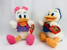 "Disney Mattel Mickeys Stuff 13"" Daisy & Donald Duck Plush NOS WITH TAG LOT FRSH"