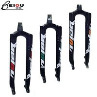 Carbon fiber bicycle front rigid fork disc brake for 26-29' in mtb mountain bike