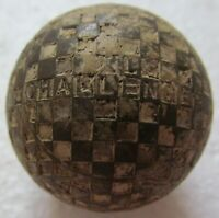 VINTAGE GOLF BALL- UNUSUAL COVER DESIGN-XL CHALLENGER WITH CHECKERBOARD PATTERN