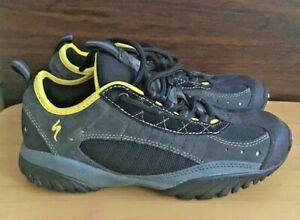 Specialized Rockhopper Cycling Shoes Size 6 Black and Yellow w/Cleats 6102-4138