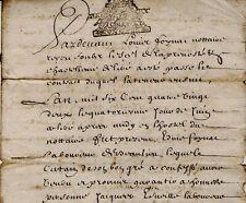 1682 Cher Belleville-sur-Loire & Léré FOYNAT & LÉVEILLÉ acte notarié vente terre