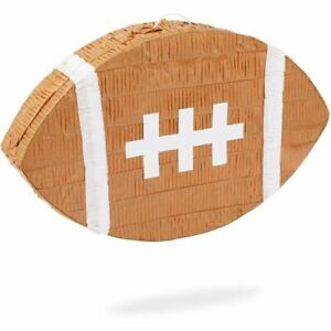 Football Pinata for Sports Birthday Party (16.5 x 10 x 3 In)