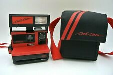 Vintage Polaroid Cool Cam 600 Black/Red Instant Camera with Case / Untested
