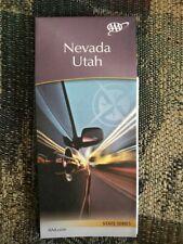 NEVADA UTAH STATE SERIES HIGHWAY MAP AAA 12/17-3/19 NEW