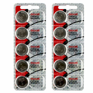 10 x Maxell CR2032 Batteries, Lithium Battery 2032 | Shipped from Canada
