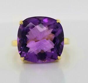 Tiffany & Co 18K YELLOW GOLD  RING Natural purple AMETHYST 10.35CT.