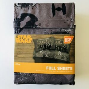 Star Wars Kessel Crew Full Sheet Set Gray Disney Super Soft 4 Pc Bedding Linens