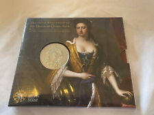 More details for royal mint 2014 death of queen anne £5 brilliant uncirculated coin sealed 300anv