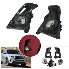 For Toyota Highlander 2017-2019 Front Bumper Fog Lights Kits Switch Wire Covers
