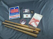 Vintage Minnesota Twins Baseball Collectibles Sports Memorabilia Bat Pins Trivia