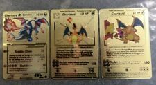 Pokemon Card Charizard Gold Metal 4/102 100/101 Collector Goldstar