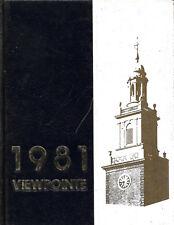 HS742 MI 1981 Grosse Pointe South High School 'Viewpointe' Yearbook