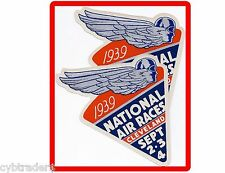 1939 NATIONAL AIR RACES ART DECO Refrigerator / Tool Box Magnet