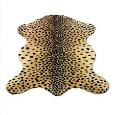 "CHEETAH RUG FAUX FUR ANIMAL SKIN PELT RUG 3x5 (39"" x 55"") NEW  - MADE IN FRANCE"