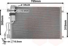 Kondensator, Klimaanlage für Klimaanlage VAN WEZEL 13005283