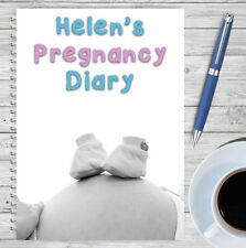 A5 PERSONALISED PREGNANCY DIARY, PREGNANCY PLANNER, MATERNITY, OWN NAME, 06