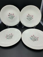 "Vintage 1960's Wedgwood China ""Pink Hope"" Dinner Plates (4)"