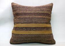Kilim Pillow, 24x24 in, Decorative Ethnic Cushion, Handmade Vintage Pillow