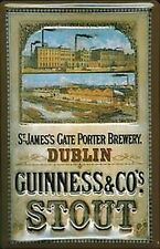 Metallschild Geprägt Guinness Dublin Brewery Groß