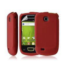 Housse coque étui pour Samsung galaxy mini s5570 couleur Rouge + film protecteur