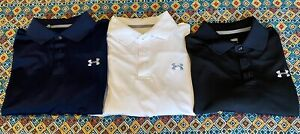 Mens Lot Of 3 Under Armour Golf Polo Shirts Medium M