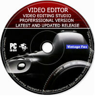 Pro Video Editing Studio 2020 Software Movie Maker Cut / Split HD 4K PC MAC DVD