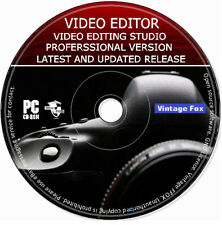 Pro Video Editing Studio 2020 Software Movie Maker Cut / Split HD 4K PC MAC DVD