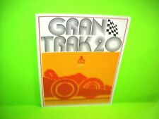 Atari 1974 Gran Trak 20 Original Retro Video Arcade Game Promo Flyer Car Racing