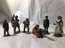 Soldiers 6 Figures Cast Iron Aluminum Metal 5 Soldiers 1 Nurse