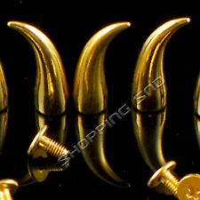 50pcs 21mm Metal Gold Cat Claw Studs and Spikes Bullets Spots Screwback Rivets