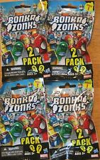 BONKAZONKS MARVEL SERIES 1 (2-PACK) Lot of 4 with 2 Mystery figures per pack NEW